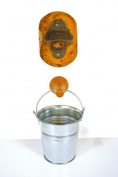 Bottle Opener Wall Mounted With Optional Bottle Top